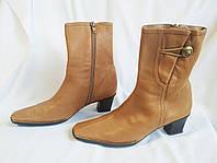 Сапоги женские кожаные демисезонные полусапожки Hispanitas (размер 38)