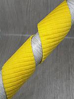 Отделочная декоративная резинка 40 мм желтая