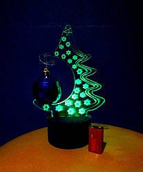 3d-светильник Елка, 3д-ночник, несколько подсветок (на батарейке), подарок на новый год