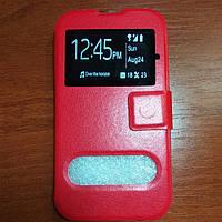 Чехол книжка на Lenovo A328 красный защитный чехол для мобильного телефона.