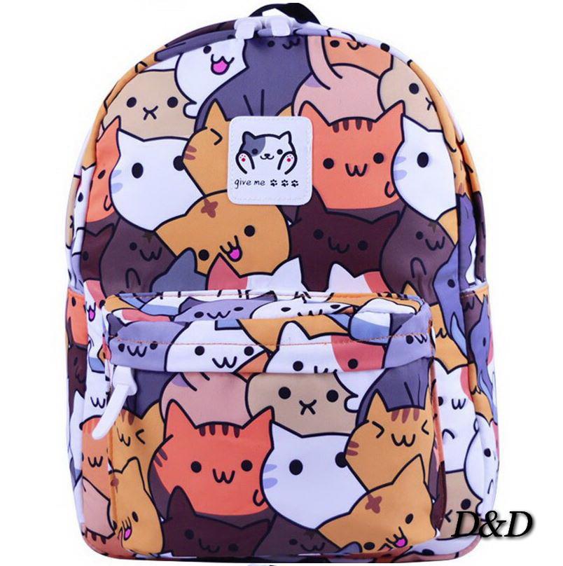 Рюкзак с принтом коты