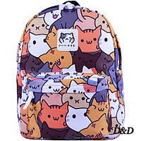 Рюкзак с принтом коты, фото 1