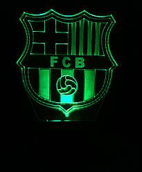 3d-світильник ФК Барселона, 3д-нічник, кілька підсвічувань (на батарейці)