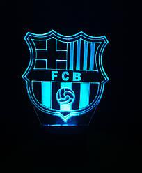 3d-світильник ФК Барселона, 3д-нічник, кілька підсвічувань (батарейка+220В)
