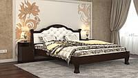 Кровать Татьяна Элегант Люкс 160х200 (венге - кожзам слоновая кость)