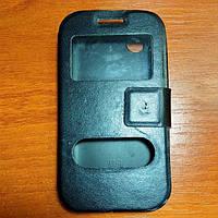 Чехол книжка на Lenovo A369 черный защитный чехол для мобильного телефона.