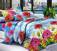 Комплект постельного белья двуспальный, полиэстер. Постільна білизна. (арт.11024)