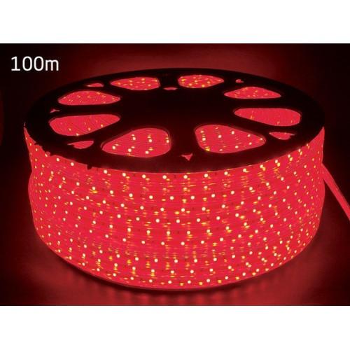 Світлодіодний дюралайт плоский червоний 60LED