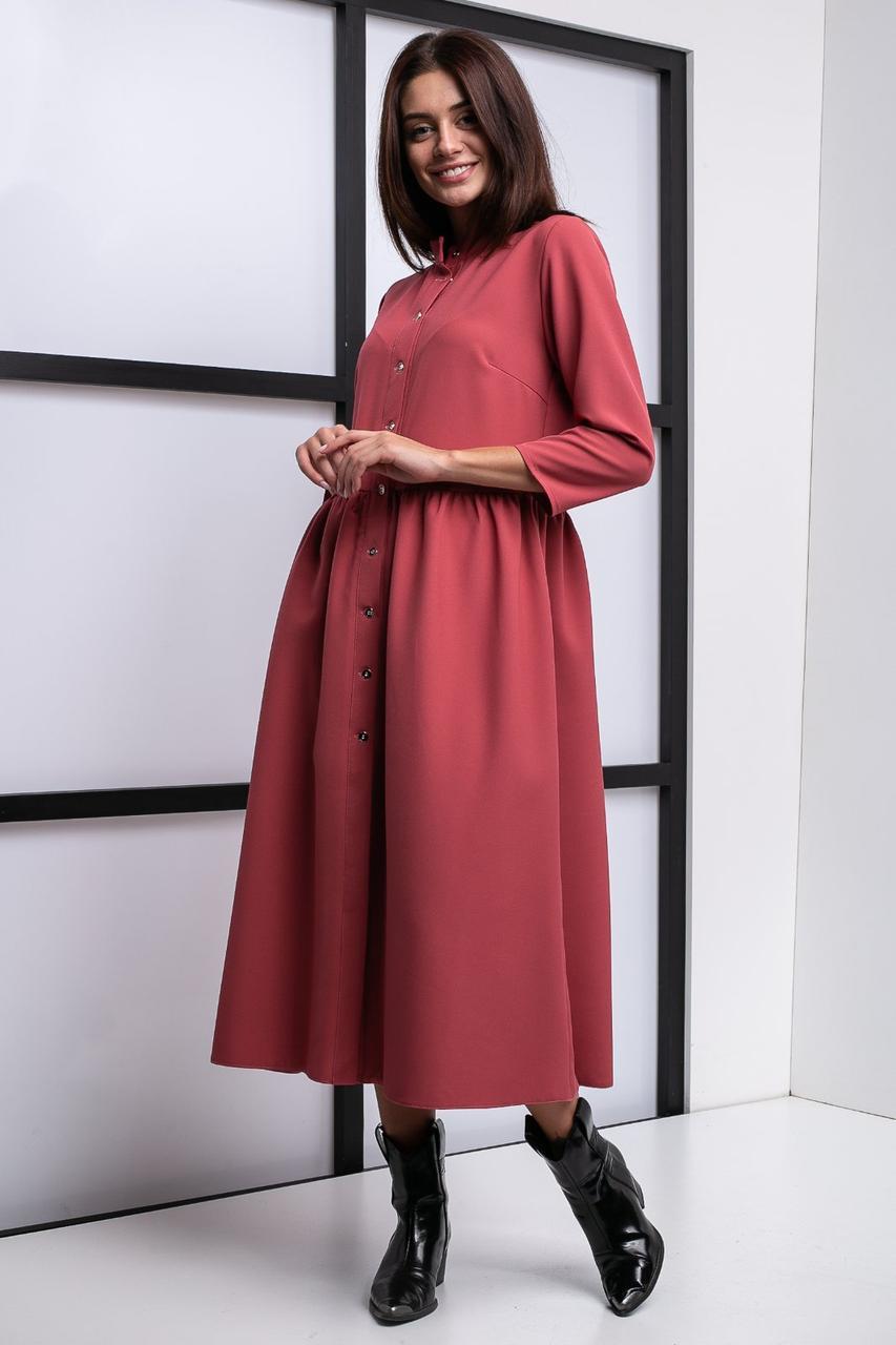 Модное платье на пуговицах.Разные цвета