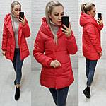 Куртка с капюшоном осень/весна красного цвета,ткань плащевка, арт. 1005