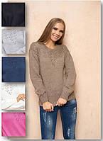 Повседневный  женский свитер, фото 1