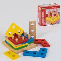 """Дерев'яна іграшка """"Геометрия""""  C 39145"""