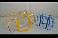 Готовая прозрачная сумка в роддом набор (большая + маленькая).