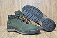 Зимние мужские ботинки (хаки)натуральный нубук и натуральный мех в стиле Jordan