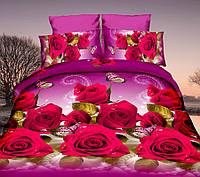 Комплект постельного белья двуспальный, полиэстер. Постільна білизна. (арт.11423)