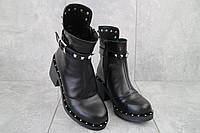 Ботинки женские Sonata Ester k черные (натуральная кожа, зима), фото 1