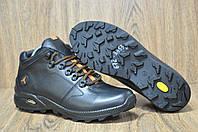 Мужские повседневные ботинки натуральная кожа и натуральный мех в стиле Jordan