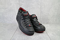 Ботинки мужские Zangak 903 ч-кр+красн  (натуральная кожа, зима), фото 1