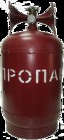 Газовый баллон 12 л (г. Севастополь) с вентилем ВБ-2, фото 1