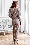 Женский стильный вязанный спортивный костюм кофта и штаны нить кашемир+шерсть размер:с-м, фото 2
