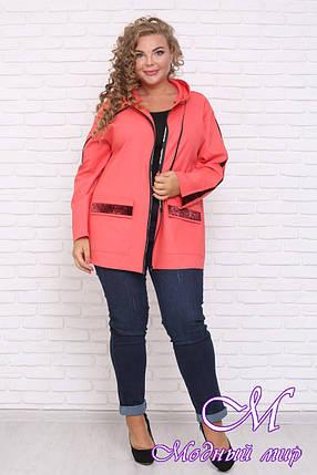 Легкая женская куртка большого размера (р. 42-90) арт. Мичиган, фото 2