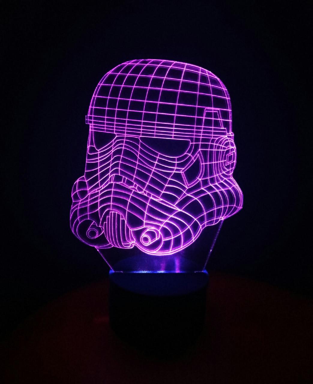 3d-світильник Клон, солдатів (Зоряні війни Star wars), 3д-нічник, кілька підсвічувань (батарейка+220В)