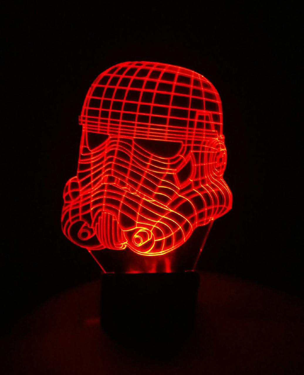 3d-світильник Клон, солдатів (Зоряні війни Star wars), 3д-нічник, кілька підсвічувань (на пульті)