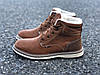 Мужские зимние ботинки Польша коричневые, фото 3