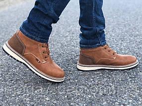 Мужские зимние ботинки Польша коричневые, фото 2