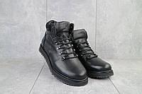 Мужские ботинки кожаные зимние черные Multi-shoes Boomer, фото 1