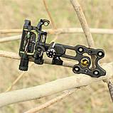 """Приціл для блочного лука DB9150 Retina RH (5 пінів, 0.019"""", микрорегулировка, підсвітка), фото 6"""