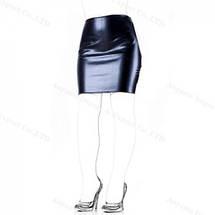 Юбка с открытой попкой виниловая WomanSpice материал в стиле латекс кожа, фото 3