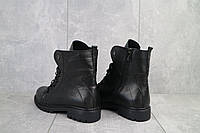 Ботинки женские Vikont 7-8-32 черные (натуральная кожа, зима), фото 1