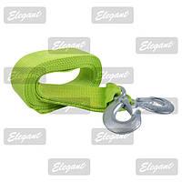 Трос буксировочный Elegant 3Т 4М*47ММ с крюками зеленый (Крюк)