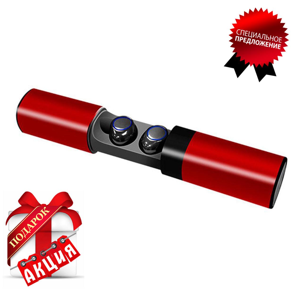 Беспроводные наушники блютуз гарнитура Bluetooth 4.2 Wi-pods S2 Оригинал водонепроницаемые Красный