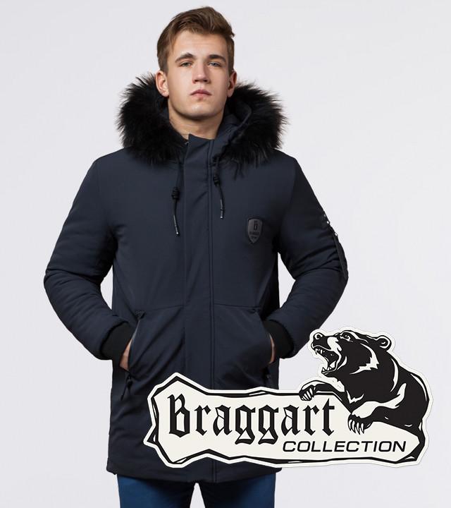 Braggart Black Diamond 9828   Мужская куртка на зиму графит