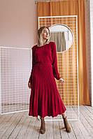 Женское вязаное платье Бланш юбка клеш складка плиссе Estilo Diani размер единый с-м