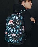 Рюкзак городской Staff Flowers 23 L черный с отделением для ноутбука