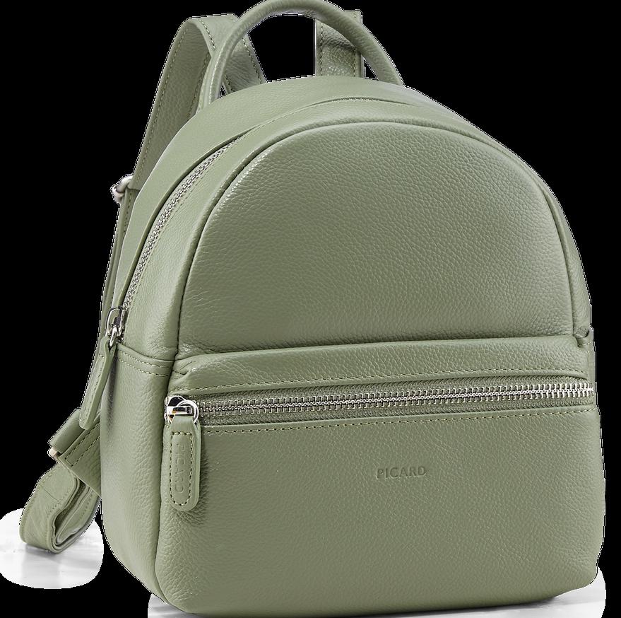 Женский кожаный рюкзак Picard Luis оливковый 4 л
