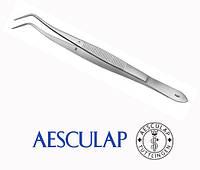 Пинцет стоматологический изогнутый Aesculap, фото 1
