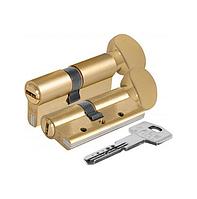 Цилиндр KALE 164 DBNEМ тумблер, латунь, повышенной секретности с защитой излома и вырывания. 70 (35х35)