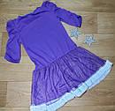 Нарядное фиолетовое платье с Эльзой и Анной Disney (США) (Размер 7-8Т), фото 2