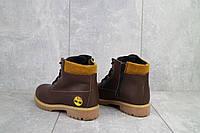 Ботинки подростковые Monster T коричневые (натуральная кожа, зима), фото 1