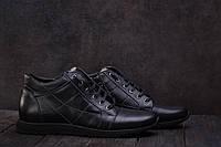 Мужские ботинки кожаные зимние черные L-Style 3597