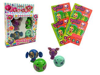 Набор игрушек Zoobles с магнитными карточками