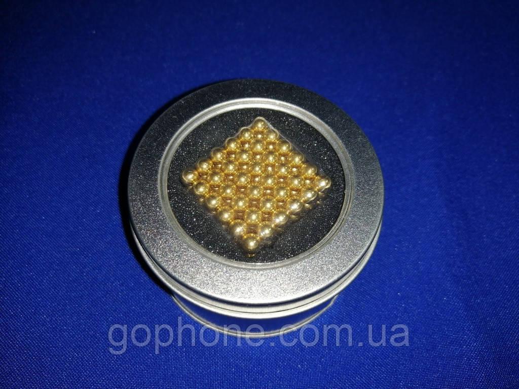 Головоломка Неокуб 216 шариков Золотой