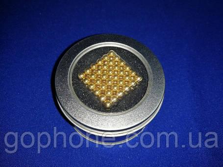 Головоломка Неокуб 216 шариков Золотой, фото 2