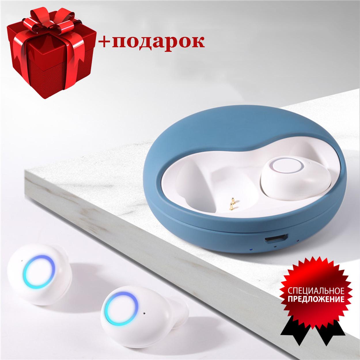 Беспроводные наушники блютуз наушники bluetooth гарнитура 5.0 Wi-pods K10 наушники с микрофоном Оригинал синие