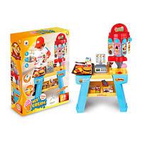 Игрушечный детский магазин, кассовый аппарат, сканер, продукты W035