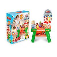 Игрушечный детский магазин, кассовый аппарат, сканер, продукты W055